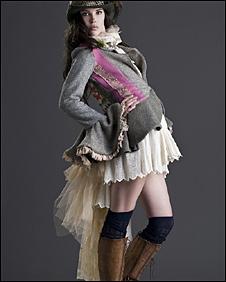 Judith R Clark design being modelled