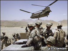 US soldiers in Zabul province, Afghanistan