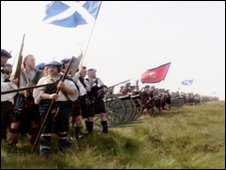 Reconstruction of Jacobites at Culloden