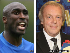 Sol Campbell and Gordon Taylor