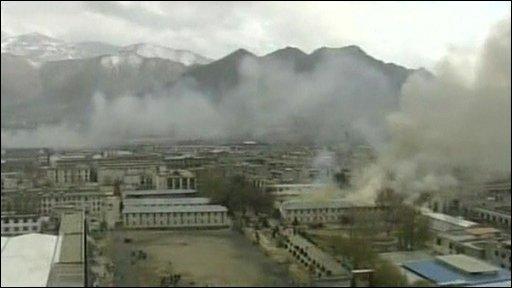 Smoke over Tibet