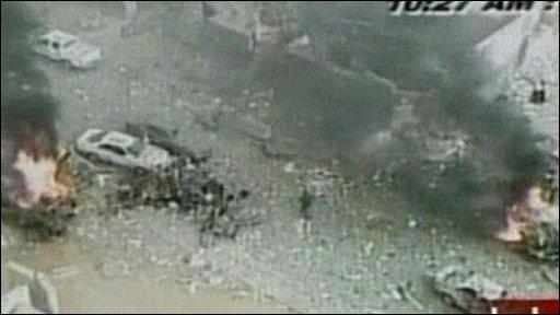 Scene of bomb attack
