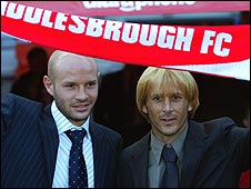 Danny Mills (left) and Gaizka Mendieta