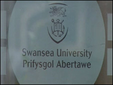 Swansea University door