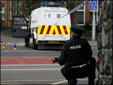 Police at scene of suspected bomb in Belfast