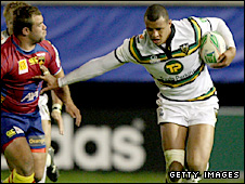 Courtney Lawes in action against Perpignan