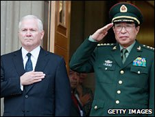 US Defence Secretary Robert Gates and Chinese Gen Xu Caihou at the Pentagon