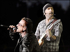 U2's Bono and The Edge