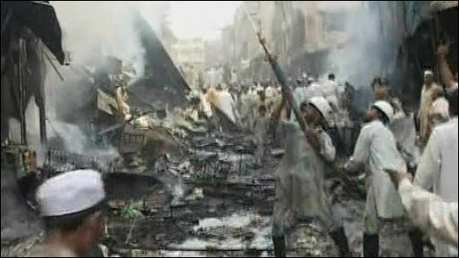 Aftermath of bomb blast