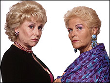 Peggy Mitchell and Pat Evans