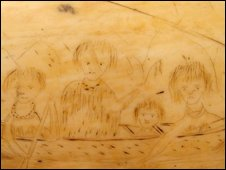 Ethcings on the scrimshaw