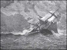 HMS Eurydice at sea