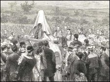 Unveiling of memorial