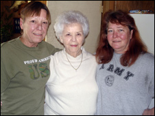 Betty and her daughters, Kelly (right) and Peggy (left)