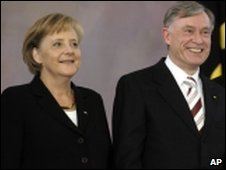 Angela Merkel and Horst Koehler