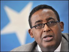 Somali prime minister Omar Sharmarke