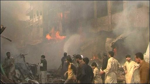Peshawar blast aftermath