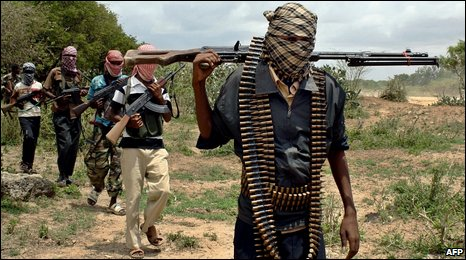Islamist militia in Afgoye, Somalia