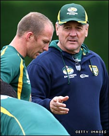Darren Lockyer and Tim Sheens
