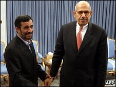 President Ahmadinejad receives IAEA head Mohamed ElBaradei in Tehran