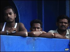 Sri Lankan asylum seekers aboard Australian customs ship Oceanic Viking moored off Indonesia - 28 October 2009