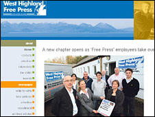 West Highland Free Press website