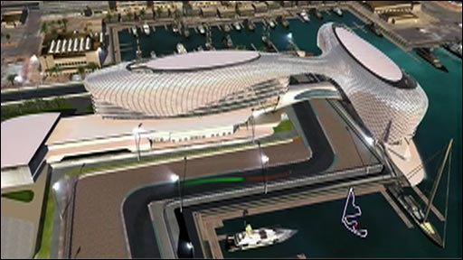 Zoom in and fly around the Yas Marina circuit, host of the Abu Dhabi Grand Prix