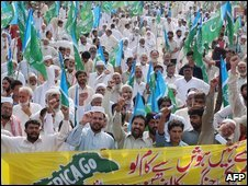 Protesters in Pakistan