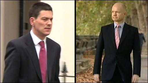 David Miliband and William Hague