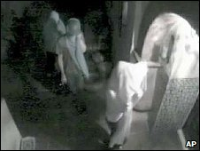 CCTV still from Lindsay Lohan's house