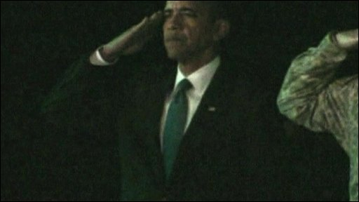 President Obama pays respects