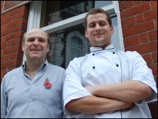 Andy Griggs and Josh Colman of LXIX Bistro