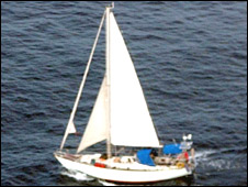 The couple's yacht, the Lynn Rival