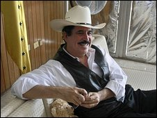 Ousted President Manuel Zelaya inside the Brazilian Embassy