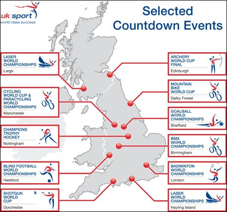 The initiative will involve Olympic events staged across the UK