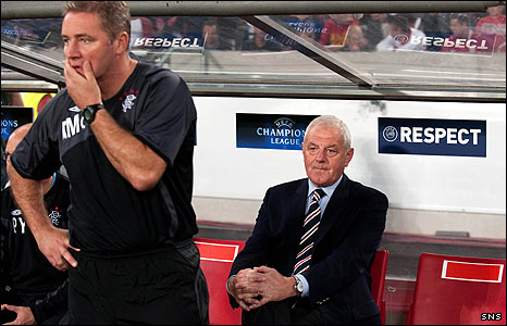 Ally McCoist (left) and Walter Smith