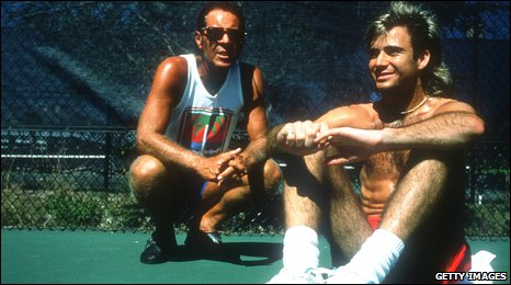 Bollettieri (left) worked with Agassi for a decade