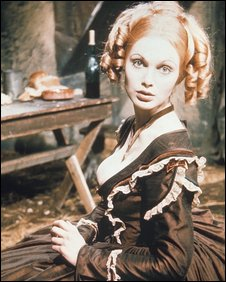 Madeline Smith as Henrietta in Hampton Wick - a spoof classic serial that ran through series one of The Two Ronnies in 1971