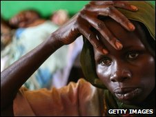A Sudanese refugee at Djabal Refugee Camp, file image