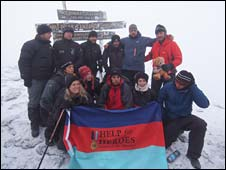 The Help for Heroes team at the summit