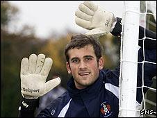 Kilmarnock goalkeeper Cameron Bell