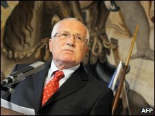 Vaclav Klaus in Prague, 9 Oct