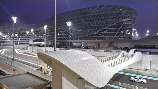 The Yas Marina racetrack  in Abu Dhabi