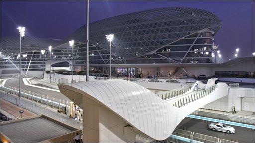 The Yas Marina track in Abu Dhabi