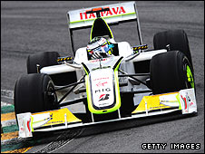 The Brawn F1 car