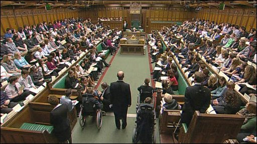 Members of the Youth Parliament in the Commons