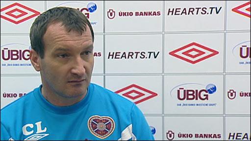 Hearts head coach Csaba Laszlo