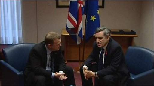 Lars Lokke Rasmussen and Gordon Brown
