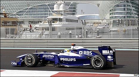 Nico Rosberg in a Williams car