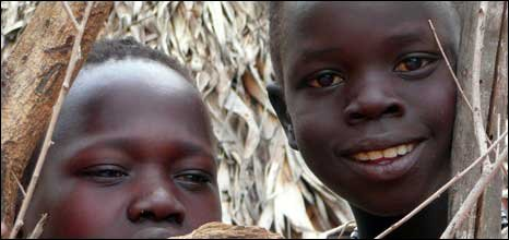 Children in southern Sudan